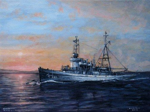 painting of USS Sarsi